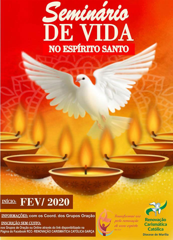 """Renovação Carismática Católica de Garça abre inscrição para """"Seminário de Vida no Espírito Santo"""""""