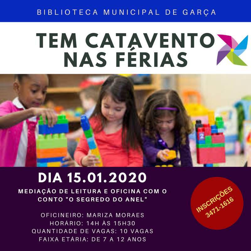 """Hoje """"Tem Catavento nas Férias"""" na Biblioteca Municipal com oficinas e Brinquedoteca"""