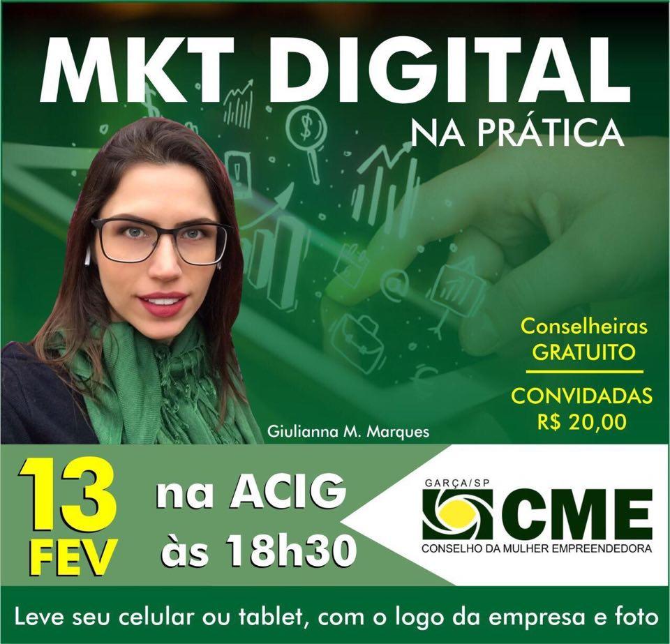 """Palestra """"Marketing Digital"""" promovida pelo Conselho da Mulher Empreendedora da Acig acontece na próxima semana"""