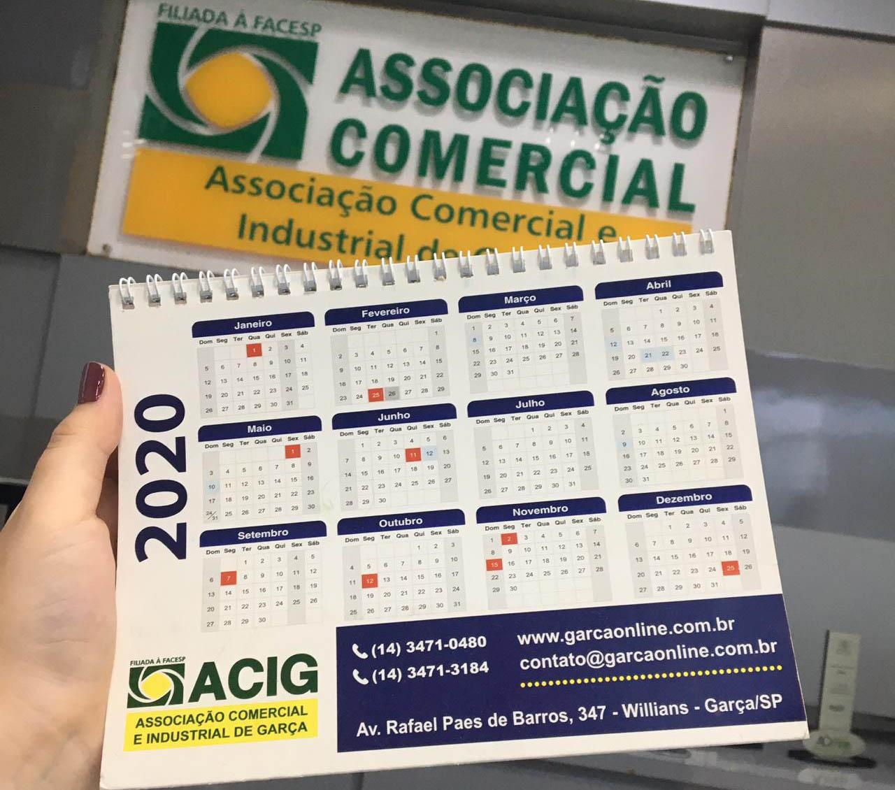 ACIG: calendário do comércio está definido até o final do ano