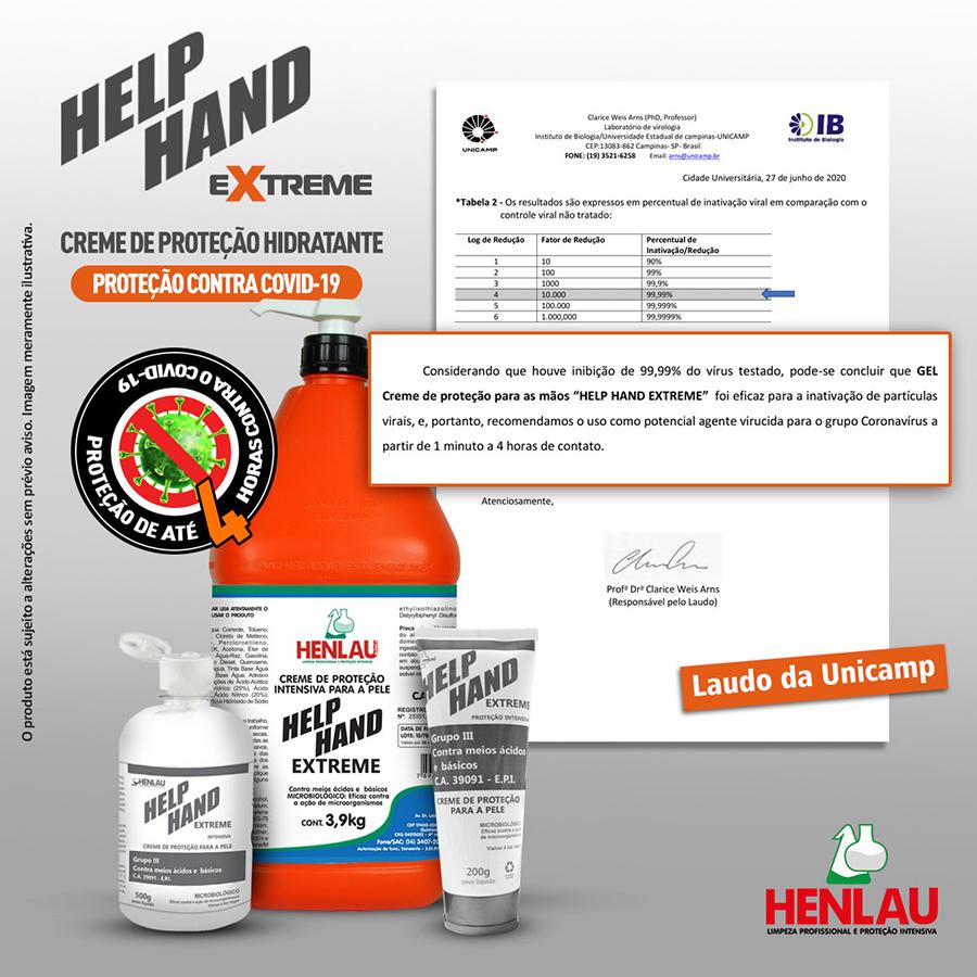 Henlau lança creme de proteção hidratante contra o COVID-19