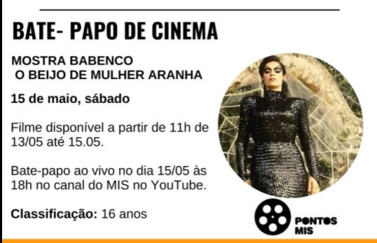 """Amanhã tem bate-papo de Cinema Pontos MIS """"Mostra Babenco"""""""
