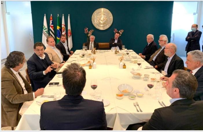 Cotait discute proposta de Reforma Tributária com o ex-presidente Michel Temer e empresários
